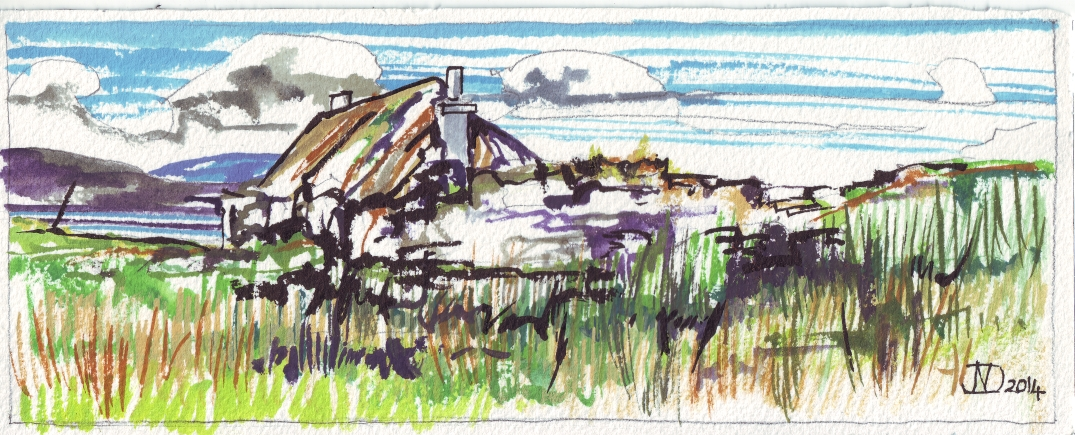 Derelict blackhouse Berneray