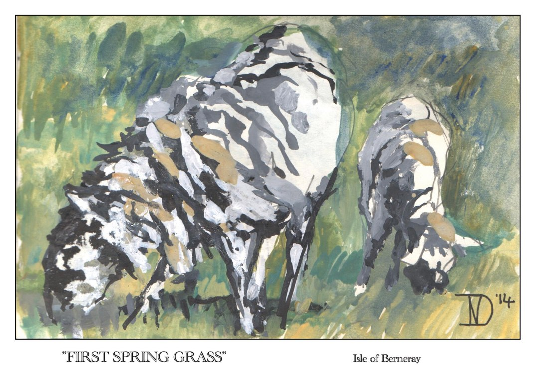 First spring grass front
